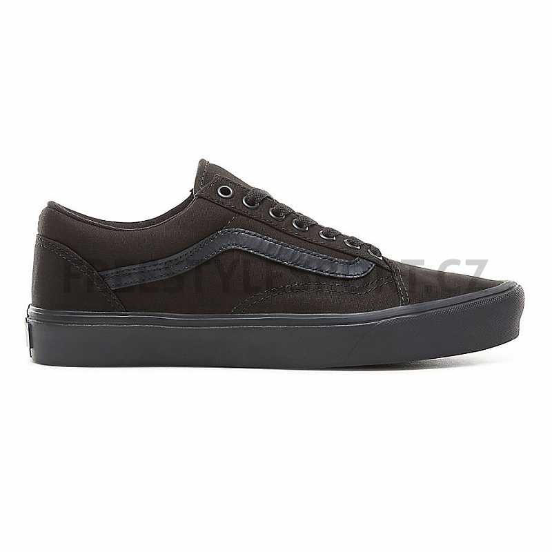 Boty VANS OLD SKOOL LITE (CANVAS) BLACK BLACK  d7a79fced8d